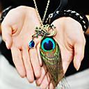 hesapli Kolyeler-Kadın's Sentetik safir Uçlu Kolyeler / Kolye Uçları - Günlük, Moda Bronz Kolyeler Mücevher Uyumluluk Günlük