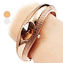 저렴한 여성용 시계-여성용 석영 팔찌 시계 캐쥬얼 시계 합금 밴드 우아한 뱅글 실버 브론즈