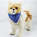 baratos Coleiras, Peitorais e Guias para Cães-Gato / Cachorro Coleira tipo Bandana Retratável Flor PU Leather Vermelho / Verde / Azul