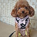 저렴한 강아지 목줄, 하네스 & 리드줄-고양이 강아지 하니스 가죽끈 캐쥬얼 리본매듭 레이스 나일론 블랙 핑크