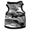 abordables Vêtements & Accessoires pour Chien-Chien Tee-shirt Vêtements pour Chien Cœur camouflage Gris Coton Costume Pour les animaux domestiques
