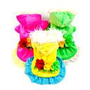 hesapli Köpek Giyim ve Aksesuarları-Köpek Elbiseler Köpek Giyimi Çiçek/Botanik Sarı Gül Yeşil Aşağı Kostüm Evcil hayvanlar için Cosplay