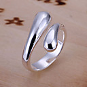Χαμηλού Κόστους Δαχτυλίδια-Γυναικεία Band Ring - Επάργυρο, Κράμα Ανοικτό Ρυθμιζόμενο Ασημί Για Πάρτι