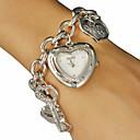 ieftine Ceasuri Damă-Pentru femei Quartz Argint / Auriu Heart Shape - Auriu Argintiu Un an Durată de Viaţă Baterie / SSUO SR626SW