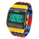 저렴한 팔찌-남성용 디지털 디지털 시계 손목 시계 알람 달력 크로노그래프 LCD 고무 밴드 참 멀티컬러
