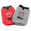 abordables Colliers, Harnais & Laisses pour Chien-Chien Manteaux Vêtements pour Chien Personnage Gris Rouge Coton Costume Pour les animaux domestiques