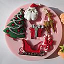رخيصةأون تزيين المنزل-1PC سيليكون صديقة للبيئة عيد الميلاد المجيد كعكة بسكويت فطيرة الكرتون على شكل الخبز العفن أدوات خبز