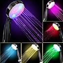 preiswerte LED-Duschköpfe-Water Flow Power Generation Schrittweise Farbwechsel LED Handbrause