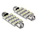hesapli Car Exterior Lights-42mm Araba Ampul SMD 3528 16 LED Aksesuarlar For Genel motorlar
