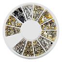 hesapli Makyaj ve Tırnak Bakımı-1 pcs Nail Art Takımı Tırnak Takısı tırnak sanatı Manikür pedikür Günlük Soyut / Moda / Nail Jewelry / Metal