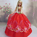 رخيصةأون الدرجات النارية وأجزاء السيارات-دمية اللباس الزفاف إلى Barbie البوليستر فستان إلى لفتاة دمية لعبة