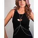 ieftine Bijuterii de Corp-Pentru femei Bijuterii de corp Lanț de Talie / Corp lanț / burtă lanț Auriu / Argintiu Design Unic / European / stil minimalist Aliaj Costum de bijuterii Pentru Zilnic / Casual 120.0*2.0*1.0 cm Vară