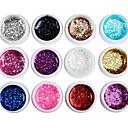 billige Sminke og neglepleje-Negle Polish UV Gel 8 ml 12 pcs glitter / UV Color Gel / Klassisk Vaske Af Langtidsholdbar Daglig glitter / UV Color Gel / Klassisk