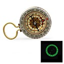 """cheap Carabiners-G50B 1.5"""" Glow-in-the-Dark Stainless Steel Compass w/ Damping Oil - Golden"""