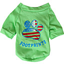 cheap Dog Clothing & Accessories-Dog Shirt / T-Shirt Dog Clothes National Flag American / USA Yellow Green Cotton Costume For Spring &  Fall