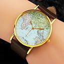ieftine Ceasuri Damă-Pentru femei Ceas de Mână Harta lumii Quartz Piele PU Matlasată Negru / Alb / Maro World Map Pattern Analog femei Charm Modă - Alb Negru Maro Un an Durată de Viaţă Baterie / Jinli 377