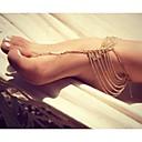 رخيصةأون ملصقات ديكور-نسائي خلخال Barfotsandaler مجوهرات القدمين سيدات تصميم فريد موضة خلخال مجوهرات ذهبي / فضي من أجل مناسب للبس اليومي فضفاض