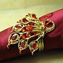 hesapli Çıkartmalar ve Desenler-Wonder Kristal Peçete Ring Metal Kuş, Metal, 4cm, 12 Set,