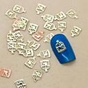 hesapli Makyaj ve Tırnak Bakımı-Sevimli tırnak sanatı Manikür pedikür Metal Çiçek / Soyut / Klasik Günlük / Karikatür / Nail Jewelry / Punk