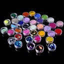 hesapli Konnektörler ve Terminaller-36 pcs Glitter & Poudre / Akrilik toz / Dekorasyon Setleri Soyut / Klasik Günlük