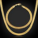 ieftine Inele-Pentru femei Colier / bratara femei Clasic Placat cu platină Placat Auriu cercei Bijuterii Auriu Pentru Petrecere Zi de Naștere Logodnă Cadou Zilnic Casual / Coliere / Brățară