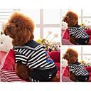 hesapli Köpek Giyim ve Aksesuarları-Köpek Tişört Köpek Giyimi Çizgi Siyah Kırmzı Pamuk Karışık Materyal Kostüm Evcil hayvanlar için