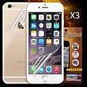 preiswerte Displayschutzfolien für iPhone 6s / 6 Plus-Displayschutzfolie Apple für iPhone 6s iPhone 6 3 Stücke Vorderer & hinterer Bildschirmschutz High Definition (HD)