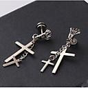 hesapli Küpeler-Damla Küpeler - Titanyum Çelik Krzyż, Kurukafa Uyumluluk Yılbaşı Hediyeleri Düğün Parti