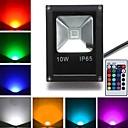 hesapli LED Güneş Enerjili Işıklar-10W 800 lm LED Yer Işıkları 1 led Yüksek Güçlü LED Uzaktan Kumandalı RGB AC 85-265V