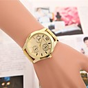 preiswerte Ohrringe-Damen Armbanduhr Quartz Armbanduhren für den Alltag Cool Legierung Band Analog Eiffelturm Modisch Gold