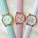 baratos Relógios Femininos-Mulheres Relógio de Pulso Quartzo Relógio Casual PU Banda Analógico Fashion Elegante Branco / Azul / Rosa - Branco Azul Rosa claro