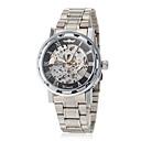 ieftine Ceasuri Bărbați-WINNER Bărbați Ceas Schelet Ceas de Mână ceas mecanic Mecanism manual Oțel inoxidabil Argint Gravură scobită Analog Fluture - Auriu Argintiu Roz auriu
