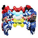 hesapli Laptop Kılıfları-hayvan köpekler için ip oyuncaklar ile şekillendirilmiş renkli kemik (rastgele renk)