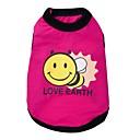 preiswerte Bekleidung & Accessoires für Hunde-Katze Hund T-shirt Hundekleidung Tier Rot Blau Baumwolle Kostüm Für Haustiere