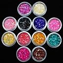 hesapli Balıkçılık Araçları-12 pcs Nail Jewelry Tırnak Tasarımı Tasarımı Mevye / Çiçek / Soyut Sevimli Günlük / Arkilik / Karikatür / Punk