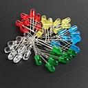 저렴한 악세사리-led5mm, 빨간색, 녹색, 파란색, 노란색 발광 다이오드 (10) 각, 총 50PCS