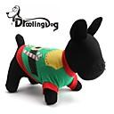 preiswerte Bekleidung & Accessoires für Hunde-Hunde / Katzen - Jede Saison - Baumwolle Grün - T-shirt - XS / S / M / L
