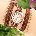 ieftine Cuarț ceasuri-Pentru femei Ceas La Modă Ceas Brățară Quartz Ceas Casual Piele Bandă Analog Boem Negru / Alb / Maro - Alb Negru Maro