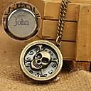 hesapli Kişiye Özel Saatler-78cm zincir kolye kişiselleştirilmiş hediye alaşım oyulmuş cep saati