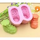 hesapli Fırın Araçları ve Gereçleri-fondan kek çikolata silikon kalıp kek dekorasyon araçları, l8.5cm * w7.2cm * h4.5cm şeklinde bebek ayakkabıları