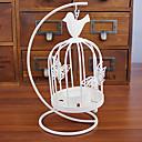 رخيصةأون Home Fragrances-النمط الأوروبي قفص العصافير الأبيض الرجعية حامل شمعة