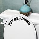 hesapli Dekorasyon Etiketleri-Şekiller Sözler ve Alıntılar Duvar Etiketler Uçak Duvar Çıkartmaları Tuvalet Çıkartmaları, PVC Ev dekorasyonu Duvar Çıkartması Toilet