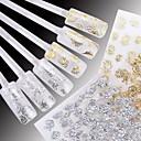 hesapli Makyaj ve Tırnak Bakımı-24 pcs 3D Tırnak Çıkartması Su Transferi Sticker tırnak sanatı Manikür pedikür Çiçek / Düğün / Moda Günlük / Plastik / 3D Çivi Çıkartmaları