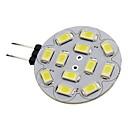 hesapli LED Bi-pin Işıklar-1.5W 150lm G4 LED Spot Işıkları 12 LED Boncuklar SMD 5730 Sıcak Beyaz / Serin Beyaz 12V