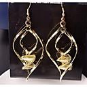 preiswerte Halsketten-Damen Tropfen-Ohrringe - vergoldet Für Hochzeit / Party / Alltag