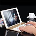 ieftine Tastaturi iPad-aluminiu tastatură Bluetooth folio capac de protecție caz cu lumina iluminare din spate colorat pentru aer iPad 2 / ipad 6 caz
