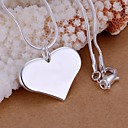 cheap Necklaces-Women's Pendant Necklace Sterling Silver Heart Love Ladies Fashion Necklace Jewelry 1pc For Wedding Party Daily Casual