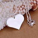 voordelige Ketting-Dames Hangertjes ketting Sterling zilver Hart Liefde Dames Modieus Kettingen Sieraden 1pc Voor Bruiloft Feest Dagelijks Causaal