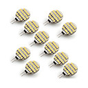 abordables LED à Double Broches-10pcs 3W 300-400 lm G4 LED à Double Broches 24 diodes électroluminescentes SMD 3528 Blanc Chaud Blanc Froid AC 12V