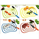 preiswerte Backzubehör & Geräte-flexible ultradünne Küche Werkzeug Fruchtgemüseschneideschneidebrett Matte zufällige Farbe